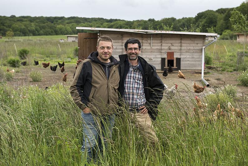 Concours général agroforesterie 2022, LASKOWSKI Johann et LAGRUE Vincent agriculteurs à la ferme des Clos Bonnelles (Yvelines)