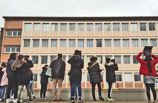 Projet PACTE à Limay avec le CAUE 78 sur le thème Architecture, urbanisme et écologie : les défis technologiques de l'homme.